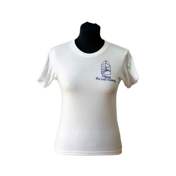 White T-shirt with Hilgay embroidery