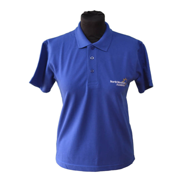 Royal Blue Polo Shirt with North Wootton embroidery