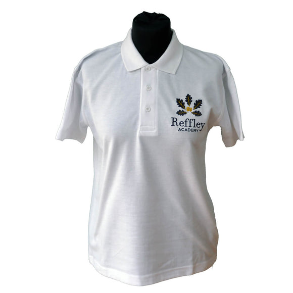 White Polo Shirt with Reffley embroidery