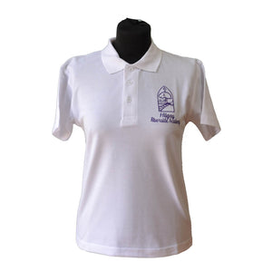 White Polo Shirt with Hilgay embroidery