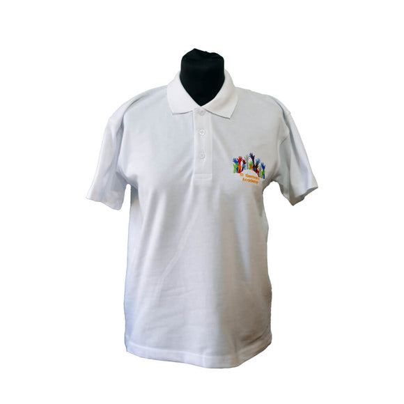 White Polo Shirt with St Germans embroidery