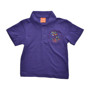 Purple Polo Shirt with South Wootton Pre School embroidery