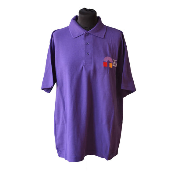Uneek Classic Purple Polo shirt with CCN embroidery