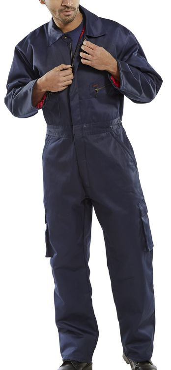 Navy quilted boilersuit