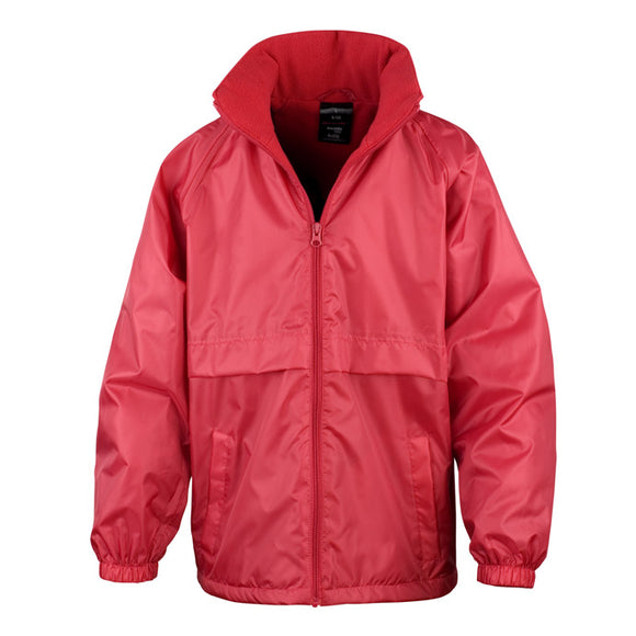 Red Lined Waterproof Jacket with Blenheim embroidery
