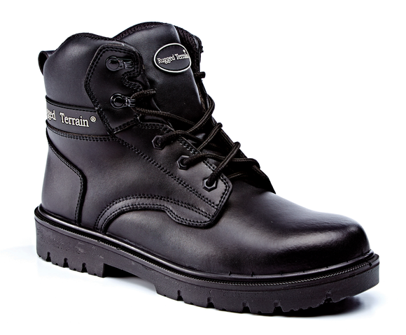 Black Leather Derby Boot S3 SRC