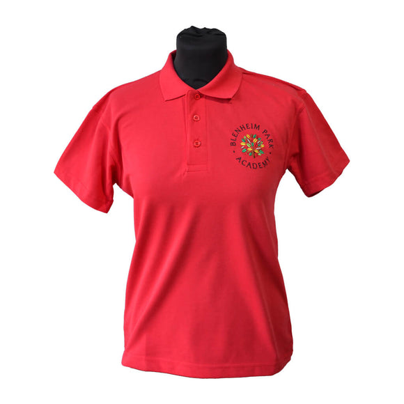 Red Polo Shirt with Blenheim embroidery