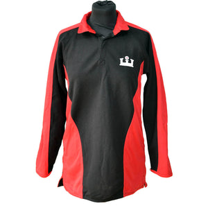 Red/Black Rugby Shirt with KES embroidery