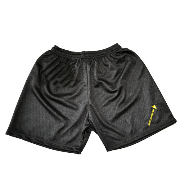 Black Mesh Shorts with KLA Embroidery