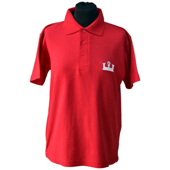 Red Polo Shirt with KES embroidery
