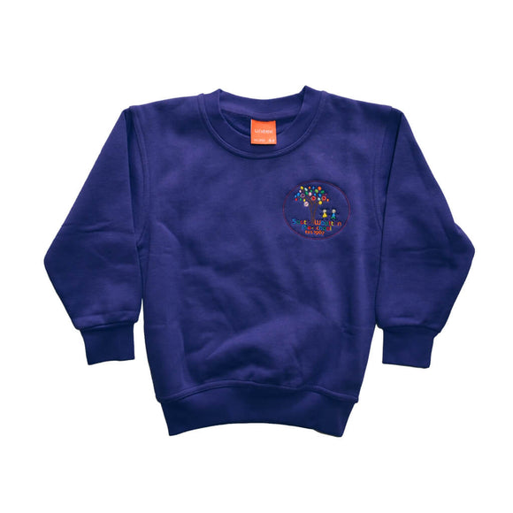 Purple Sweatshirt with South Wootton Pre School embroidery
