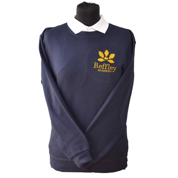 Navy Sweatshirt with Reffley embroidery