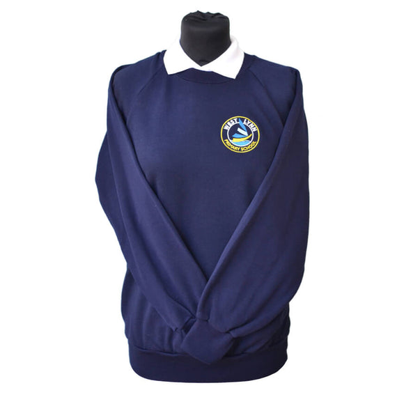 Navy Sweatshirt with West Lynn embroidery