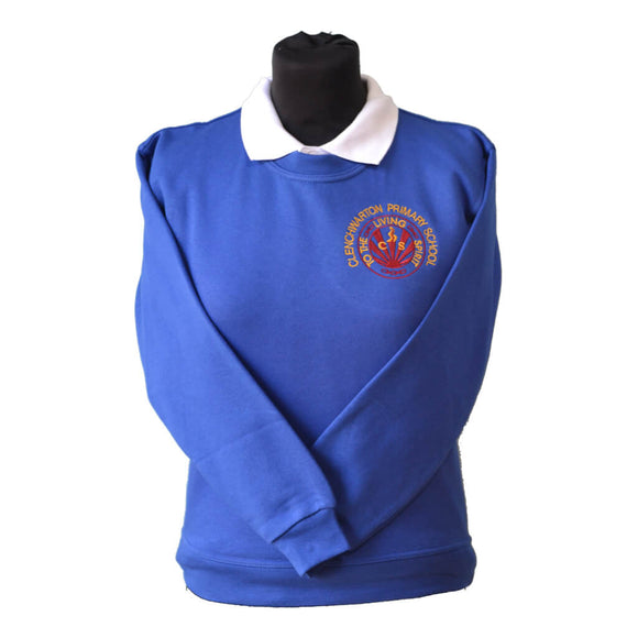 Royal Sweatshirt with Clenchwarton embroidery
