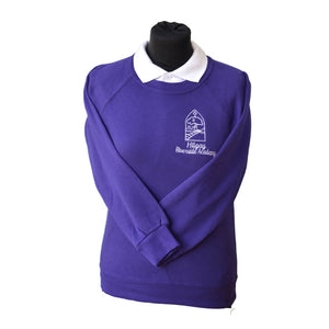 Purple Sweatshirt with Hilgay embroidery