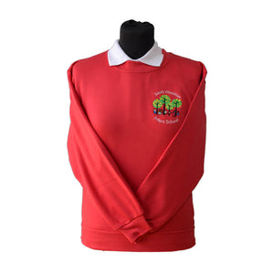 Red Sweatshirt with South Wootton Infants embroidery