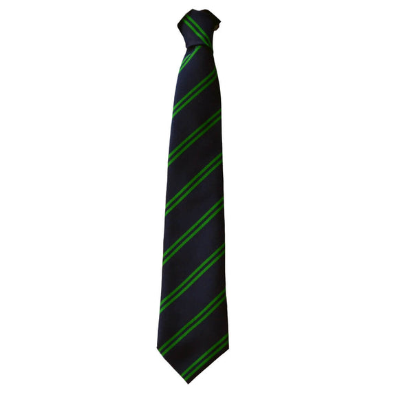 Navy/Green Stripe Tie (Emneth)
