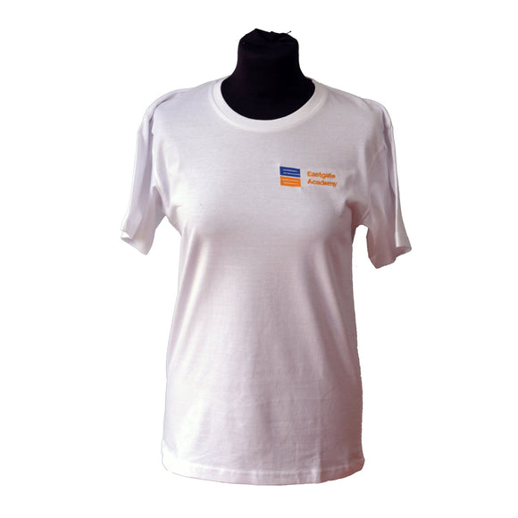 White T-shirt with Eastgate embroidery
