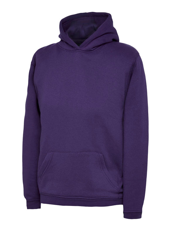Purple Hooded Sweatshirt with South Wootton Pre School embroidery