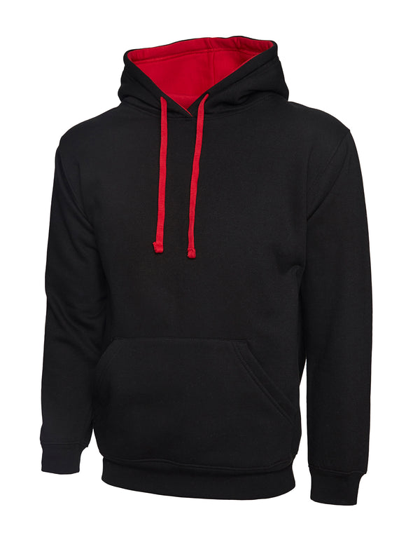 Black/Red Hooded Sweatshirt with KES embroidery