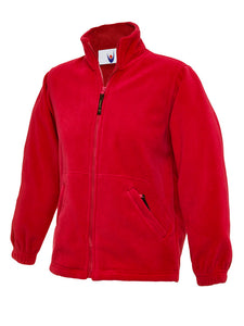 Red Micro Fleece with Highgate embroidery