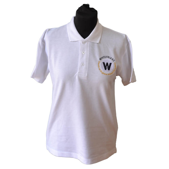 White Polo Shirt with Whitefriars embroidery
