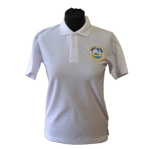 White Polo Shirt with West Lynn embroidery