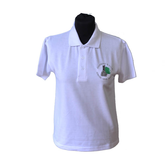 White Polo Shirt with Greyfriars embroidery