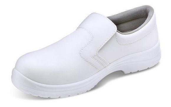 Micro Fibre Slip-On Shoes White (CF832)