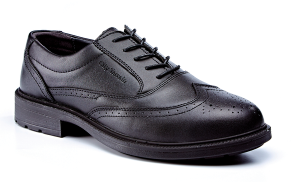 Black Leather Brogue Shoe S1P SRC