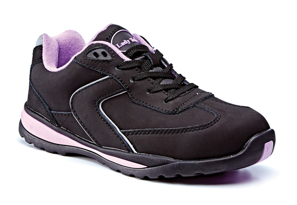 Ladies Nubuck Trainer SB SRC Black (LT777)