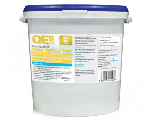 Byotrol QFS Antimicrobial Sanitising Wipes (NAN199)
