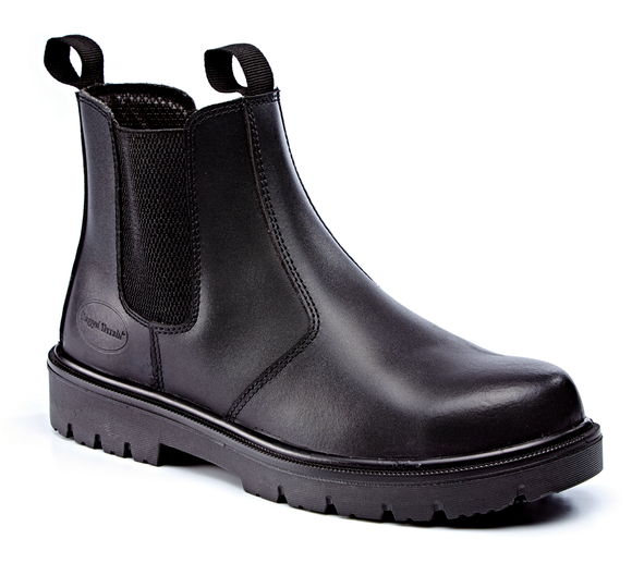 Leather Dealer Safety Boot Black (Motor Vehicle)