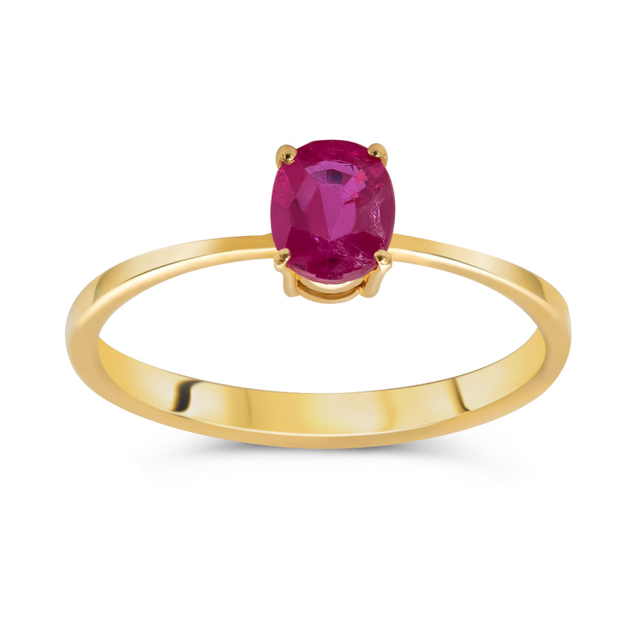 Oval Ruby