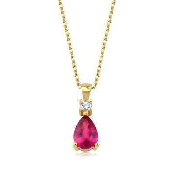 Ruby Pear Pendant
