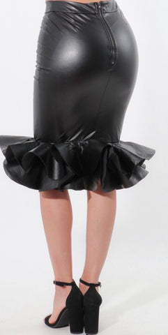 Farah Faux Leather Skirt