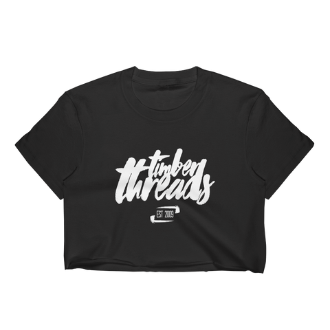 Women's Black Timber Crop