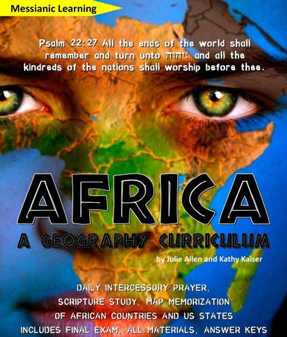 Africa Geography Curriculum & Intercessory Prayer Guide - PDF download