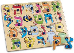 Learn the Hebrew Alphabet Puzzle - New Improved Design!