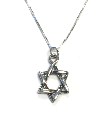Necklace - Silver Twisted Star of David