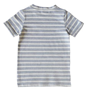 Mason Ryder Collective Essential Tee - Grey Stripe