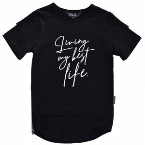 Young Blood Apparel - PRE - SALE - Living My Best Life Tall Tee