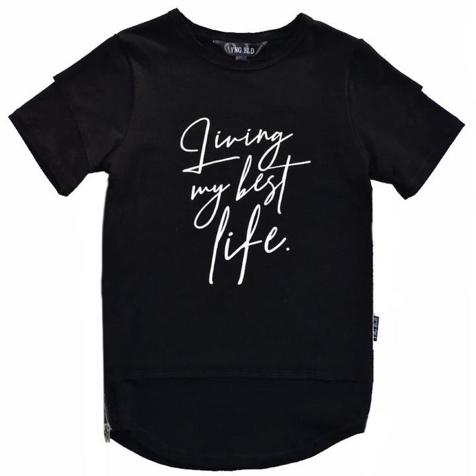 Young Blood Apparel - Living My Best Life Tall Tee