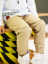 Oovy - Latte Distressed Chinos