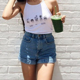 Roll Up Hem Vintage Shorts (2 Colors)