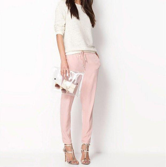 Casual Pants With Tassel Tie Up (3 Colors)