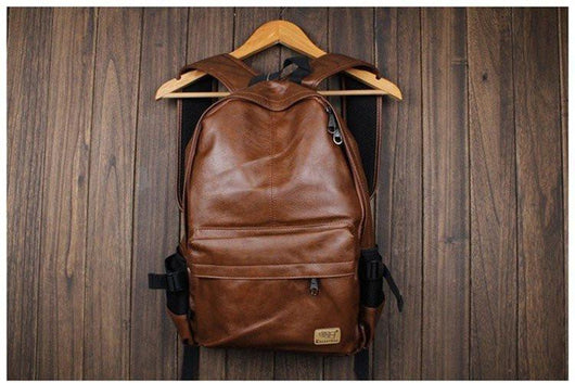 Leather New School Backpack