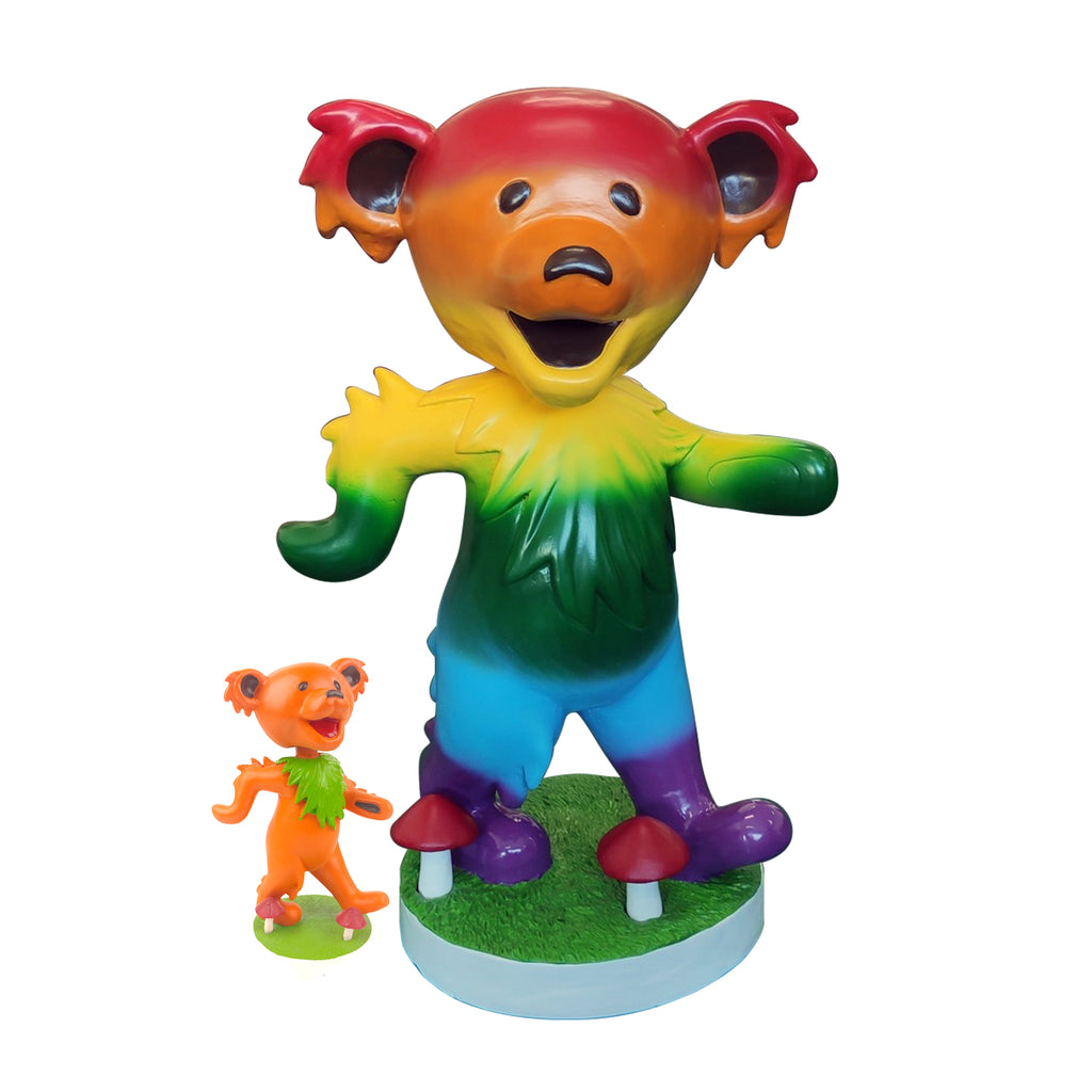 "24"" Grateful Dead Dancing Bear Bobblehead - Rainbow"