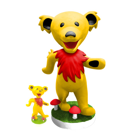 "24"" Grateful Dead Dancing Bear Bobblehead - Yellow"