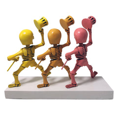 Grateful Dead Dancing Skeletons Pink, Orange, Yellow